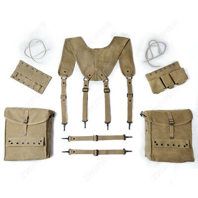 WWII WW2 US Army Combat Medic Equipment SET Field Kit Suspenders Cantles SALE