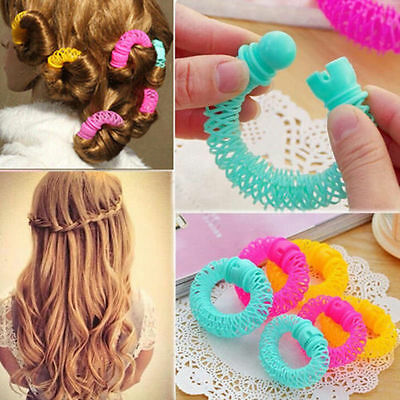 8 Pcs Hairdress Magic Bendy Hair Styling Roller Curler Spiral Curls DIY Tools HP