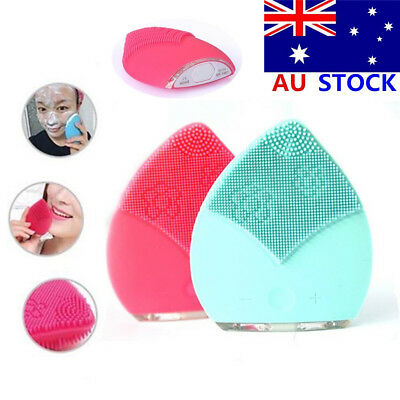 Electric Face Facial Cleansing Brush Rechargeable Silicone Cleanser Exfoliating