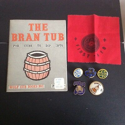 Lot Of Vintage Girl Guides / Scouts Pins And Ephemera