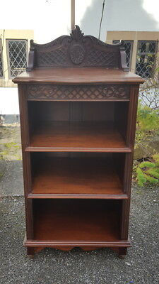 A Stunning Antique Victorian Cabient/Shelving Unit with Galleried Ornate Top