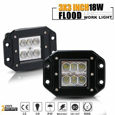 5inch 18W CREE LED Flood  Work Light Bar Offroad Fog Driving Lamp Truck 4WD SUV