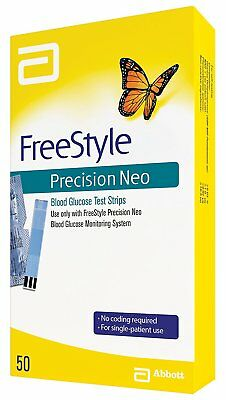 Abbott FreeStyle© Precision Neo Blood Glucose Test Strips 50 Count Exp 07/31/19