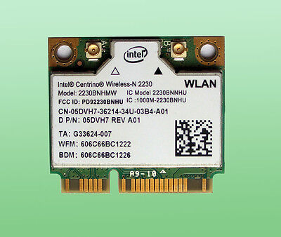 Intel Centrino Wireless-N2230  2230BNHMW  Bluetooth 4.0 802.11b/g/n