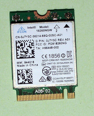 Intel Tri Band Wireless- AC18260 Model:18260NGW 802.11AC 867Mbps M.2 NGFF  BT4.0