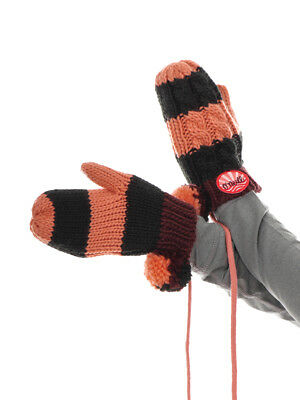 O`Neill Glove Mitten Mittens Black Knitted Stripes Color Warm