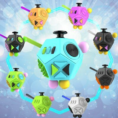 12 Sides Fidget  Relief Cube Anxiety Stress toys Adults Kids Attention ADHD AU