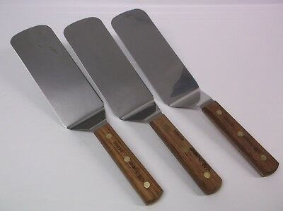 Lot of (4) Dexter Russell S8698 Wood Handle 8x3 Dented Dinged Scratched Spatulas