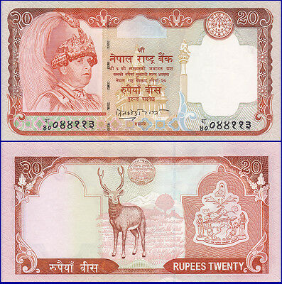 NEPAL 20 Rupees P-47a 2004 UNC SIGN. 15, US-Seller