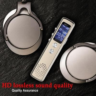 8GB Digital Audio Voice Activated Recorder Dictaphone Rechargeable Backlight CXH