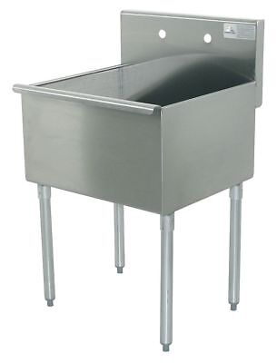 "Advance Tabco Floor-Mount Utility Sink, 24"" x 24"" Square Bowl, Stainless -"