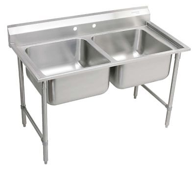 Elkay Stainless Steel Scullery Sink, Without Faucet, 16 Gauge, Floor Mounting