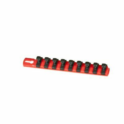 Ernst Manufacturing 8-Inch Socket Organizer with 9 3/8-Inch Dura-Clips, Red