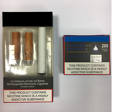 E CIGARETTE STARTER KIT  8Mg RICH CARTOMIZERS  VIP COMPATIBLE  free P & P