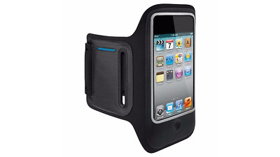 Belkin DualFit iPhone 4S/4 Sport Armband Running Case/Cover Black/Blue F8Z610cw