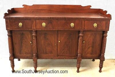 Antique Burl Mahogany Empire Buffet with Gallery circa 1840s-1860s wit... Lot 24