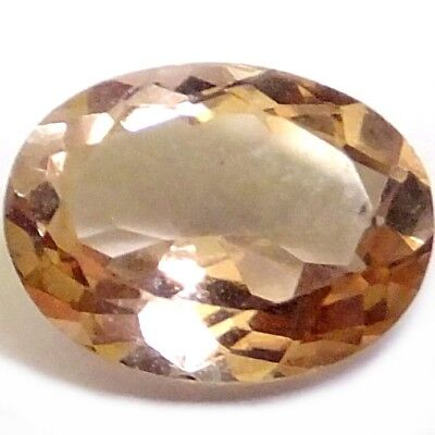 NATURAL AWESOME PINK PEACH MORGANITE LOOSE GEMSTONES (9.1 x 6.9 mm) OVAL SHAPE