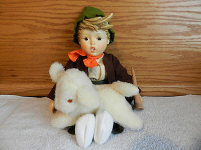 "Vintage Hummel Goebel Lost Sheep 68/D Porcelain 1986 14"" Doll With Box"