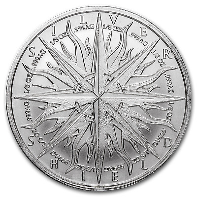 1 oz Silver Shield Round - Pieces of Eight - SKU #94853