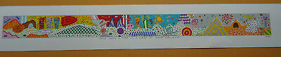 Lithographie James Rizzi 1992 2D, kein 3D:  Rizzi Once upon a time...