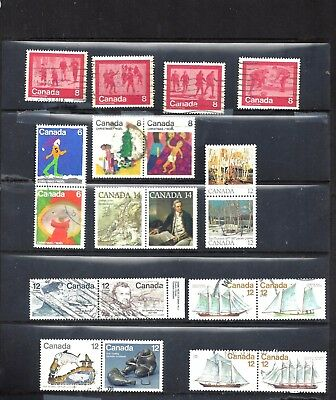 Canada SELECTION OF SETENANTS AND SETS #4 USED (BS10659)