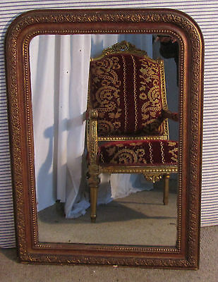 French 19th Century Louis Philippe Gilt Wall Mirror Freee Delivery E&W