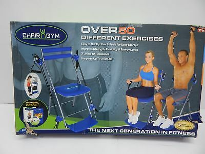 Chair Gym Total Body Workout  Blue