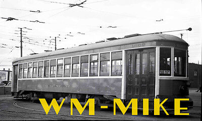 #B-360 trolley Connecticut Company car #1889 in 1942 ORIGINAL B&W Negative