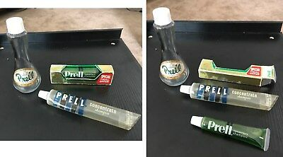 Vintage lot of 1960s 70s PRELL SHAMPOO, BOTTLE, TUBE, good condition