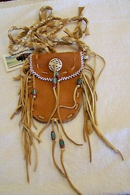 Hand Made Beaded Neck Pouch Rendezvous Black Powder Mountain Man 50
