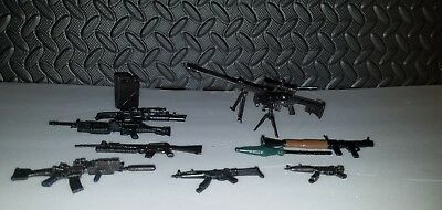 Marvel Legends Scale Lot Of 11 Different Weapons Guns Sniper Rifle Mp5 Dcuc 1/12