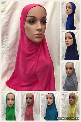 Muslim Girls Children Adult Ladies Islamic Hijab School Stretch Lycra One Piece