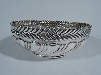 Tiffany Bowl - 8060 - Antique Aesthetic Wave Edge - American Sterling Silver