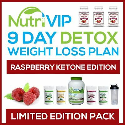9 Day Detox Package  - [ Raspberry Ketone Edition ] - Slimming Weight Loss Pills