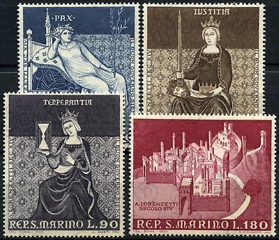 San Marino 1969 SG#856-9 The Good Government MNH Set #D60248