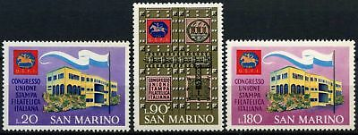 San Marino 1971 SG#910-912 Italian Philatelic Union Congress MNH Set #D60256