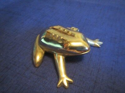 Brass Frog Trinket Box