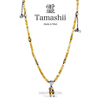 Collana Originale Tibetana Tamashii Mudra Lace Yellow Nhs1500-155