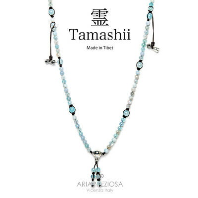 Collana Originale Tibetana Tamashii Mudra Lace Sky Blue Nhs1500-165