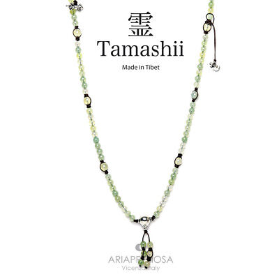 Collana Originale Tibetana Tamashii Mudra Green Apple Nhs1500-63