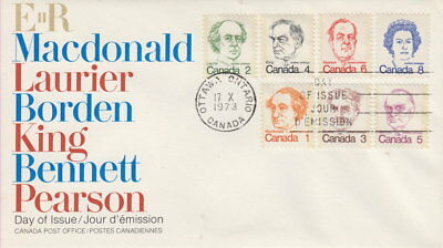 Canada #586-591 Caricature Definitives Combination First Day Cover