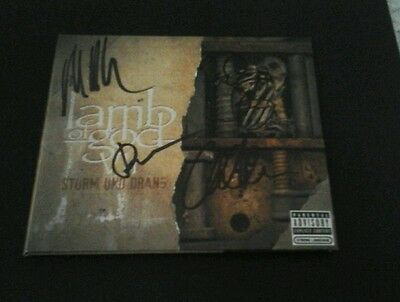 LAMB OF GOD Signed VII STURM UND DRANG CD DIGICASE randy blythe