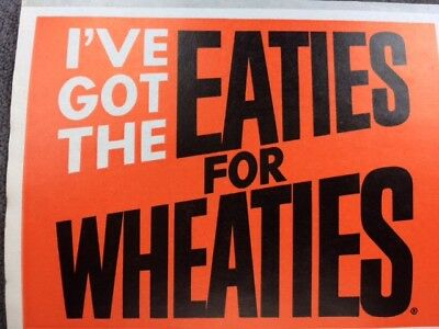 I've Got the Eatiest for Wheaties Vintage Sticker extremely rare great condition