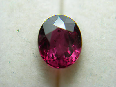 1.46ct very rare SONGEA RUBY RED Gem Tanzania Gemstone flourescent genuine oval