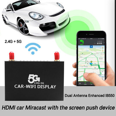 Wifi Miracast Car Vehicle Screen Mirroring Display Device For Andriod iOS Phone