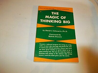 Magic of Thinking Big by Schwartz, David J. Paperback Book The Cheap Fast Free