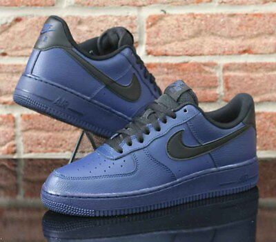 Nike Air Force 1 Low 07 Men s Binary Blue Black Leather 315122 423 Size