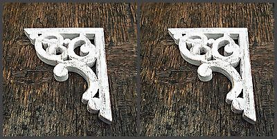 Victorian Shabby Chic Antique Corbel Farmhouse Decor Wooden Brackets 1 x Pair