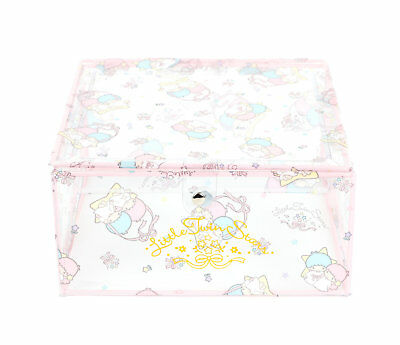 2017 Rare NEW Sanrio LITTLE TWIN STARS Storage Box with Flap Lid magnetic closer