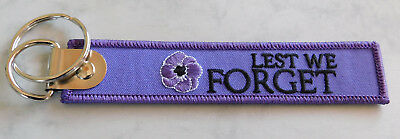 Lest We Forget Purple Poppy Key Tag Rembering The Animals That Served Alongside